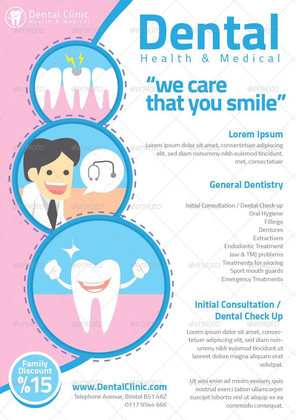 Dentist Flyer Templates Dentist, Free dental, Dental