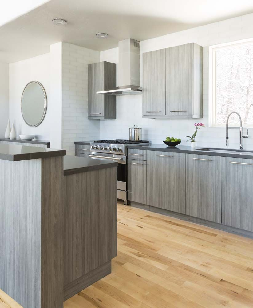 Frameless Kitchen Cabinets Modern: A #beautiful #contemporary And Elegant #kitchen Space With