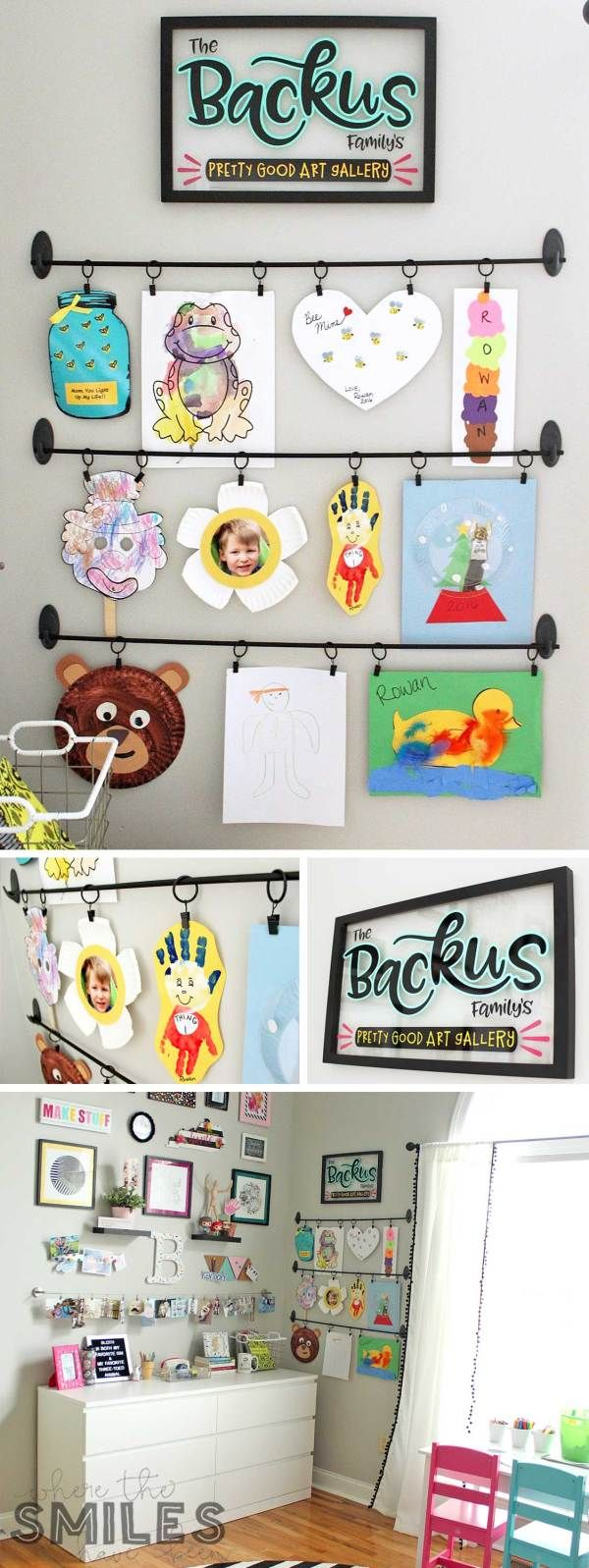 Easy DIY Kids Art Display: Simple, Inexpensive, & No Damage! images