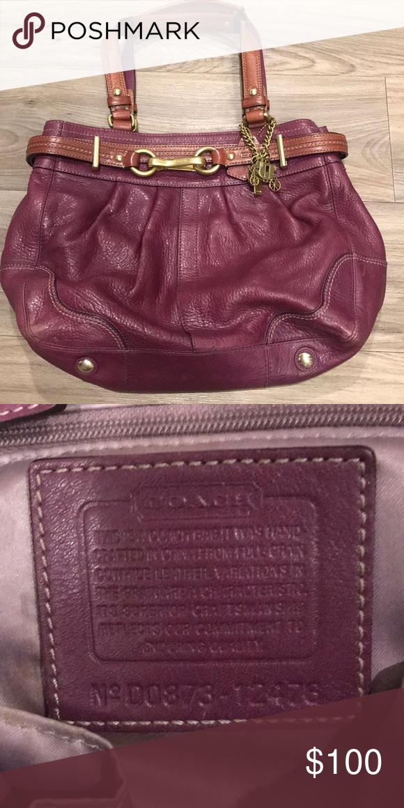 b45397dd4d ... france fushcia leather coach handbag genuine leather coach handbag  d0873 12476 coach bags shoulder bags a3ea0 ...