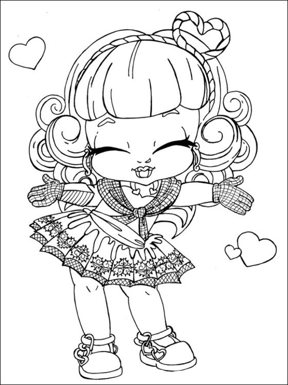 ca cupid monster high coloring page