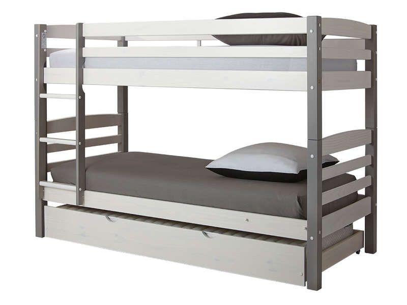 lits superpos s 90 x 200 cm harry 5 coloris blanc gris vente de lit enfant conforama le. Black Bedroom Furniture Sets. Home Design Ideas