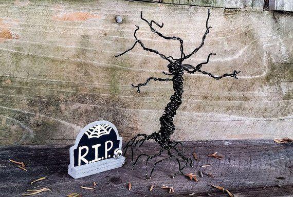 Spooky Tree, Halloween Tree, Halloween Office Decor, Halloween