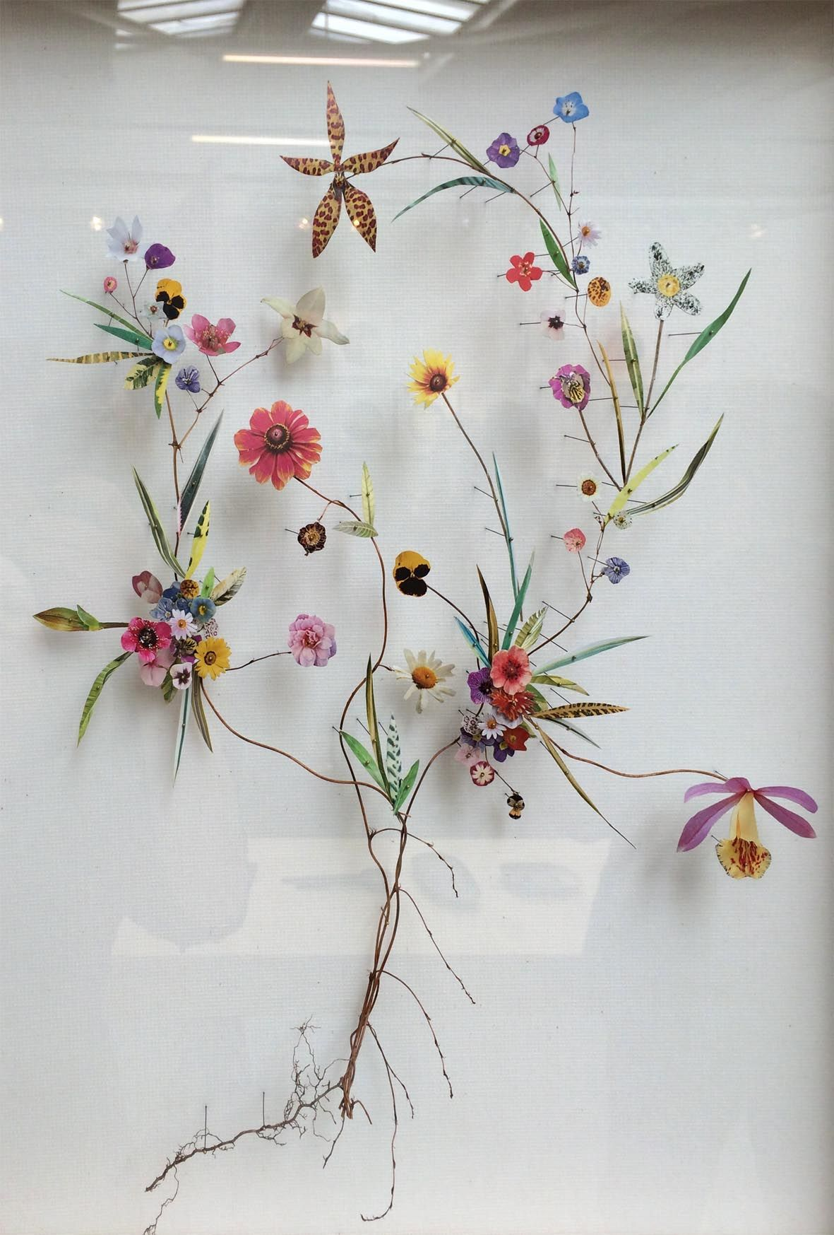 Flower Construction By Anne Ten Donkelaar A Mix Of Real And Cut Out