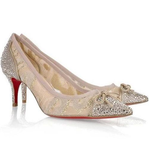 Christian Louboutin Souris Strass 70 Crystal Pumps Beige Red Sole Shoes Christian Louboutin Christian Louboutin Sandals Christian Louboutin Wedding Shoes