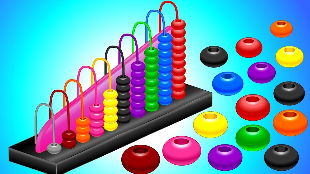 Learn Colors and Numbers 1 - 10 with Wooden Stacking and Sorting ...