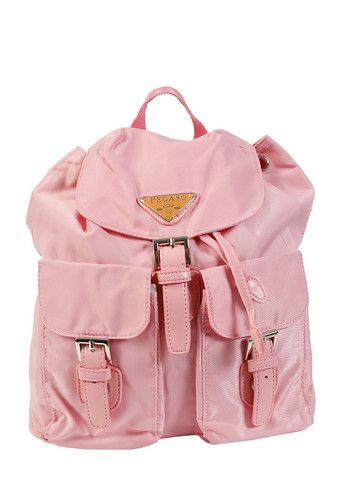 """Super cute adjustable strap nylon bag featuring tons of pockets! - Adjustable Straps - Drawstring Closure - Interior Pockets - Height: 9.5"""" - Width: 8.5"""" - Depth: 5.5"""" - Wipe Clean - Imported Returns"""