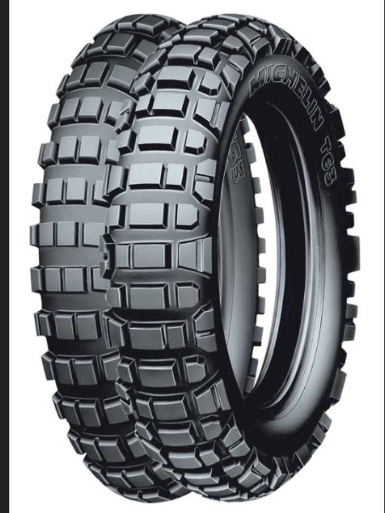 Michelin T63 Dual sports motorcycle tyres.