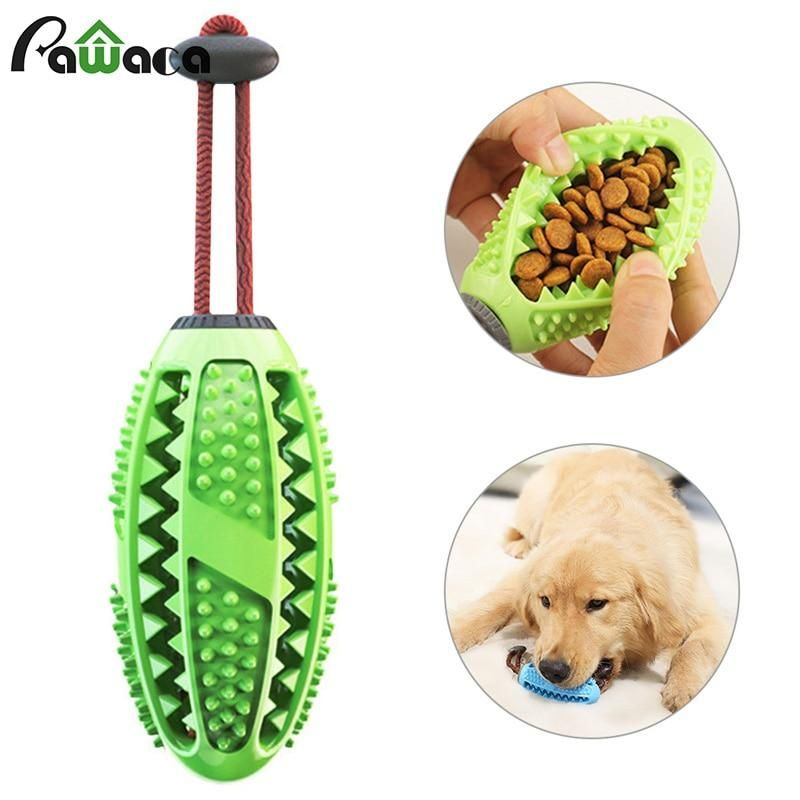 Dog Interactive Natural Rubber Ball Puppy Chew Toy Food Dispenser