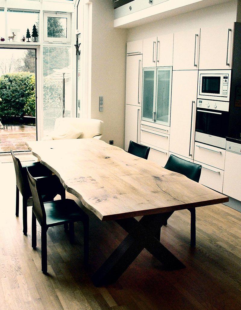 Holztisch rustikal  Esstisch Massivholztisch massiv auf Maß Eiche Holztisch rustikal ...