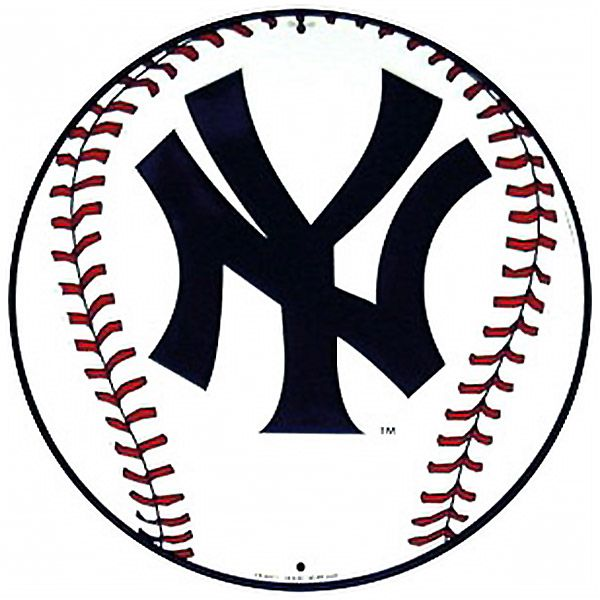 New York Yankees Baseball Logo Sports Sign | Challenge quilt ...