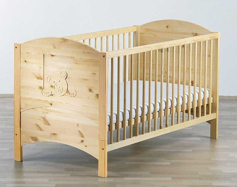 Lit bébé en pin massif avec oursons, Schardt | A ACHETER | Pinterest ...