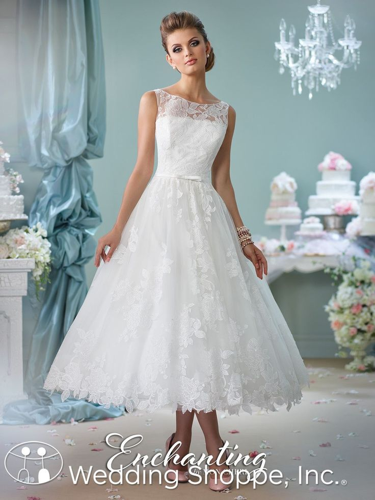 Enchanting by Mon Cheri Bridal Gown 116136   Tea length wedding ...