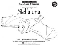 Stellaluna on DVD Coloring Sheet Kids Printables Scholastic
