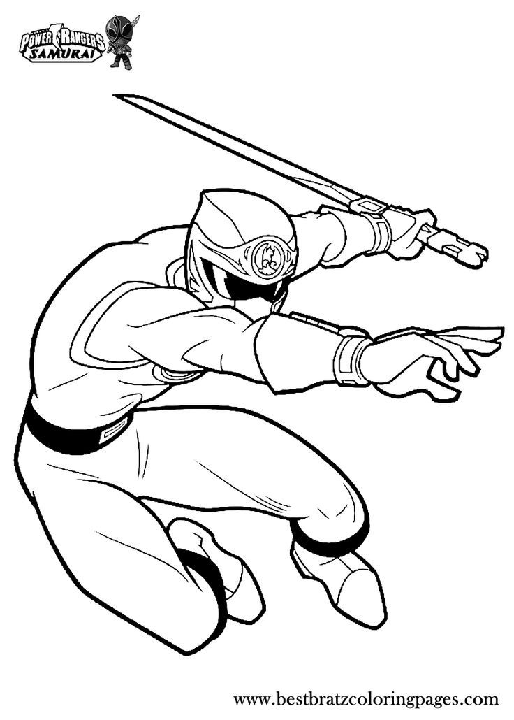 Power Rangers Samurai Coloring Pages - http://fullcoloring.com/power ...