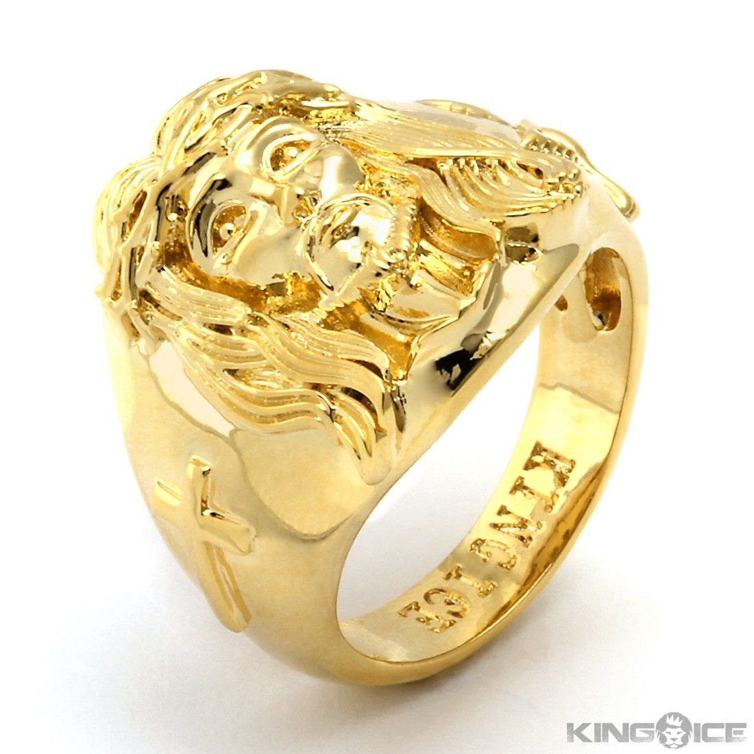 s sil men ring gold jesus rings jewelry mens