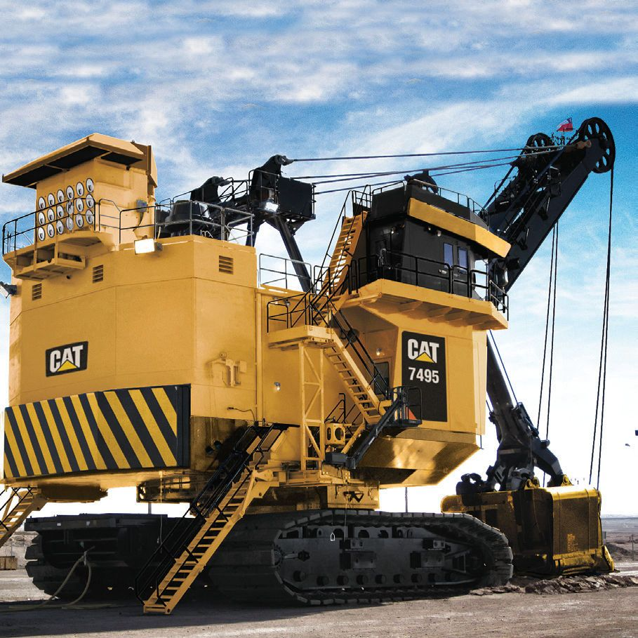 Cat 7495 Mining Shovel which was a 495 BucyrusErie