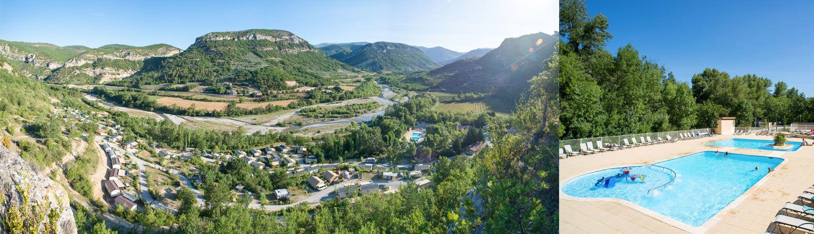 yellow-les ramieres-mont ventoux; 12,5u_1300km Met twee zwembaden, een peuterbad en waterspelen kan uw hele familie in het aquapark van camping Les Ramières genieten van een moment van welzijn, fun en verfrissing!