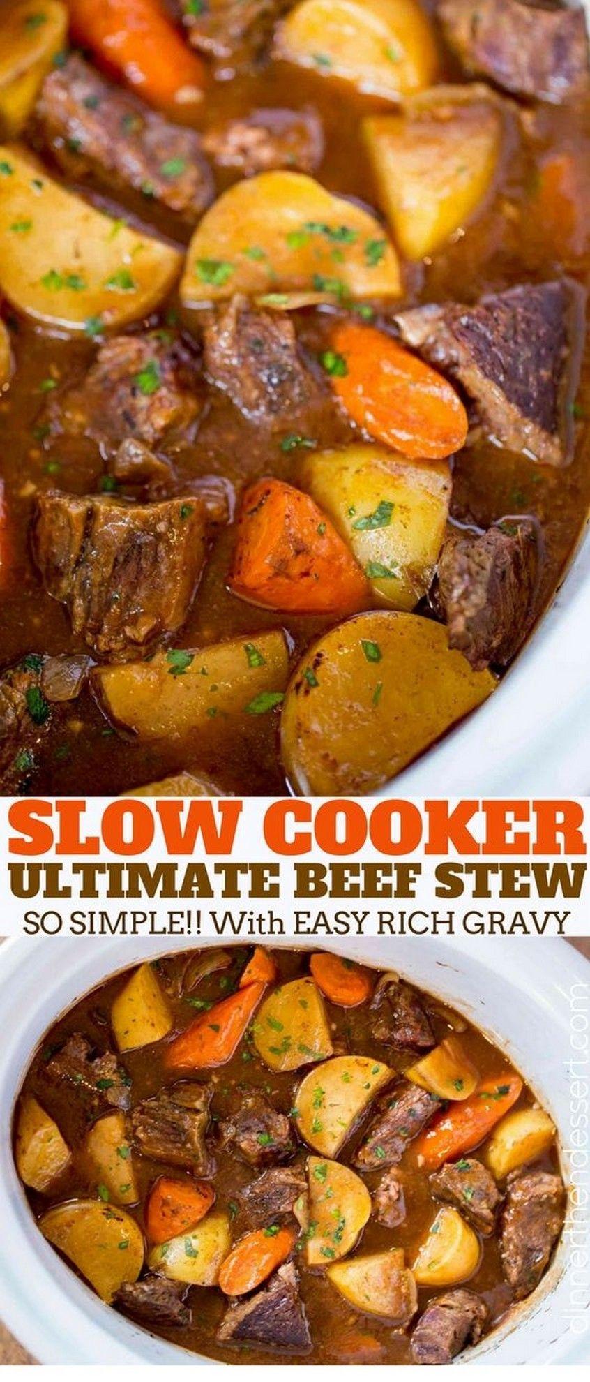 Ultimate Slow Cooker Beef Stew Recipe Crockpot Recipes Beef Stew Beef Stew Dinner Slow Cooker Beef Stew