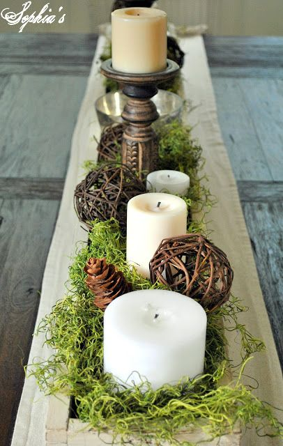 Long planter box for farmhouse table This is a GREAT blog idea