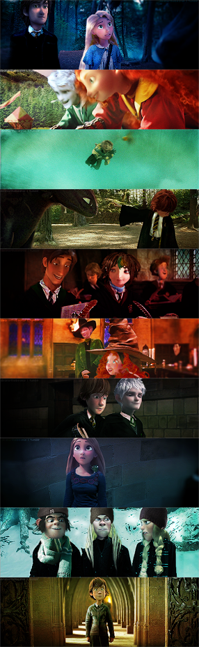 The Big Four at Hogwarts! LOVE IT SOOOOOOO MUCH!!!!!