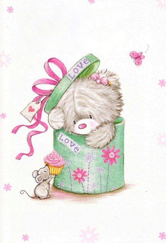 лофт использовали милые открытки с днем рождения мишки знаю
