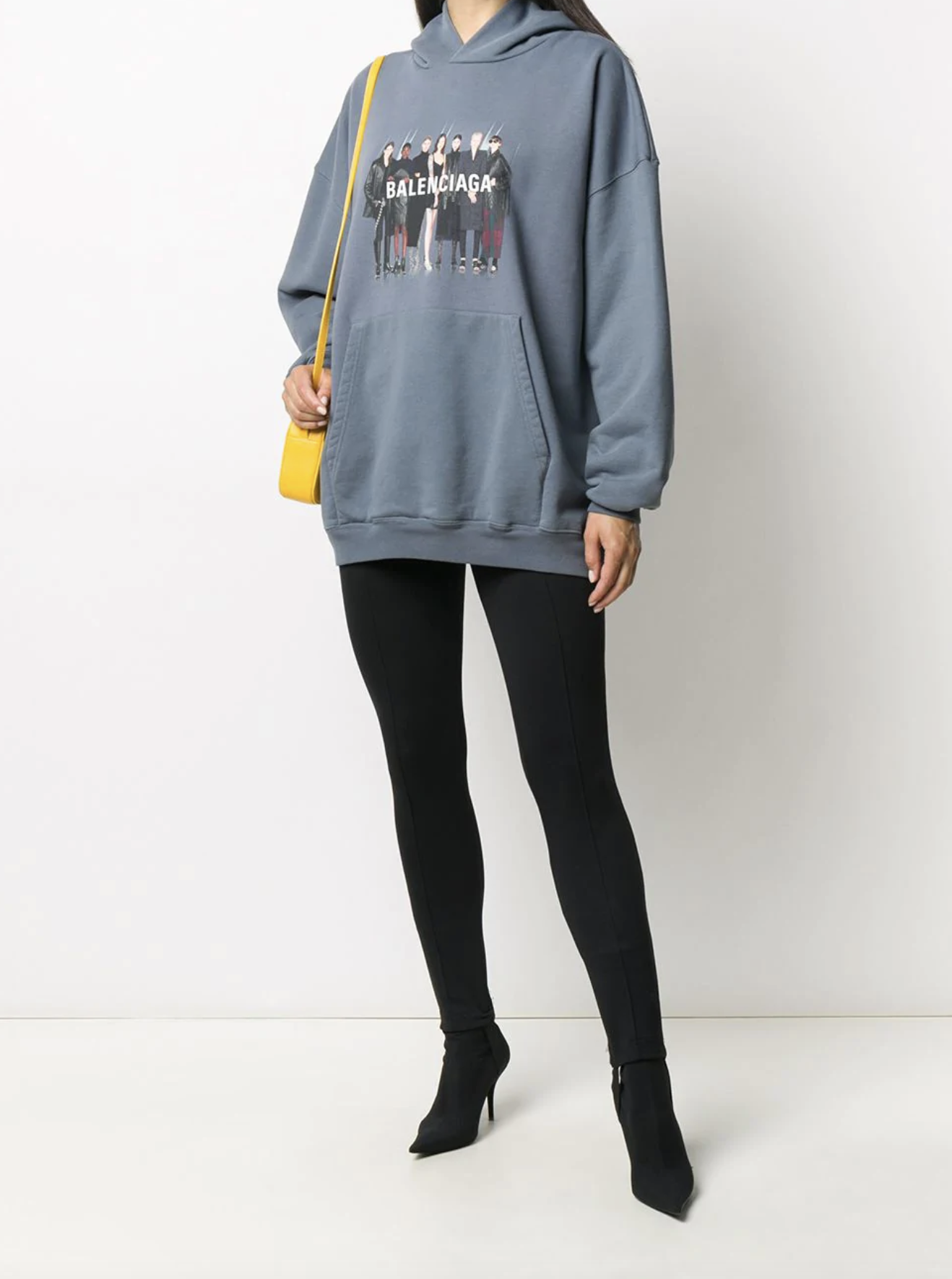Balenciaga Real Logo Print Hoodie Farfetch Hoodie Print Hoodie Sweatshirts Outfit Hoodies [ 1772 x 1318 Pixel ]