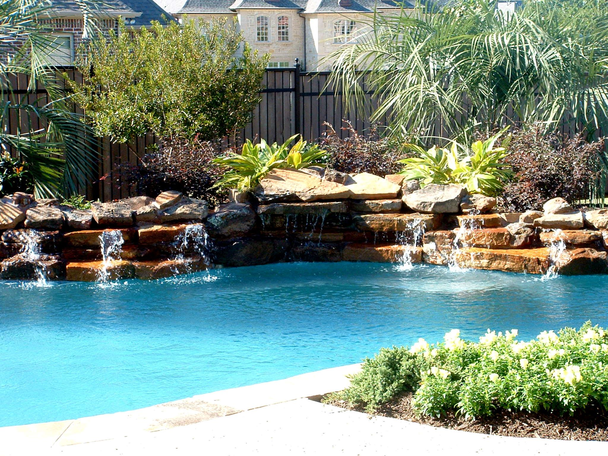 inground pools with waterfalls and slides. Inground Swimming Pools With Spa | Pool Landscaping 2048x1536 Natural Amp Waterfall . Waterfalls And Slides A