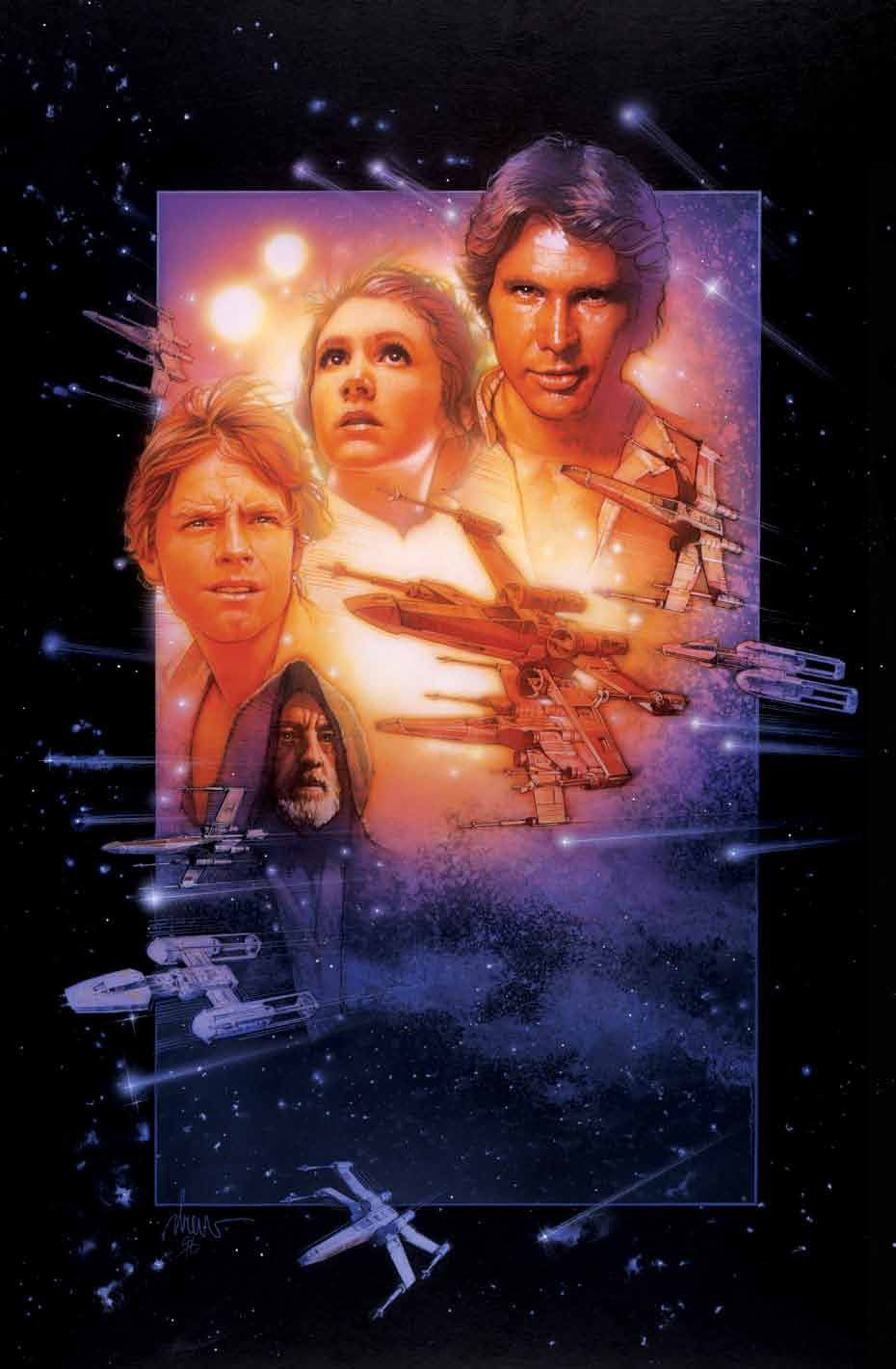 Star Wars Episode Iv A New Hope By Drew Struzan Star Wars Episode Iv Star Wars Episode 4 Star Wars Episodes