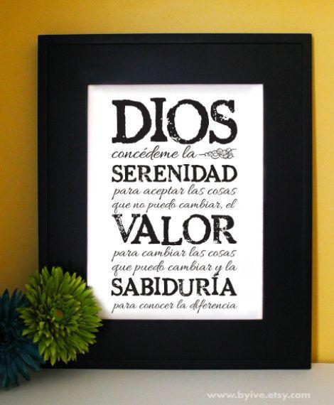 Serenity Prayer short version. AA Prayer. Inspirational by