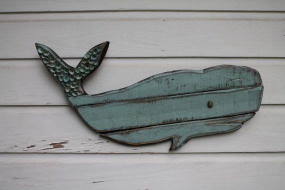 Whale Art Wooden Whale Beach House Wall Art Beach House Wall Art
