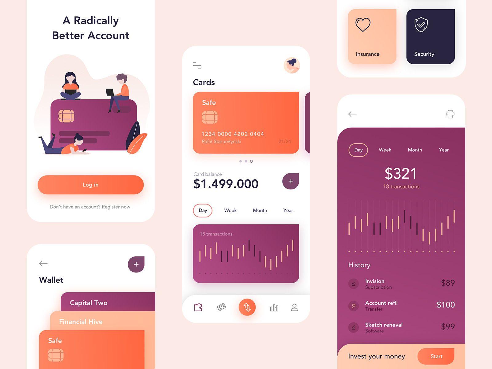 Vault - Banking App by Rafał Staromłyński #appdesign