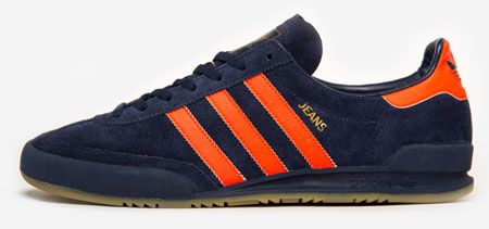 adidas jeans trainers red