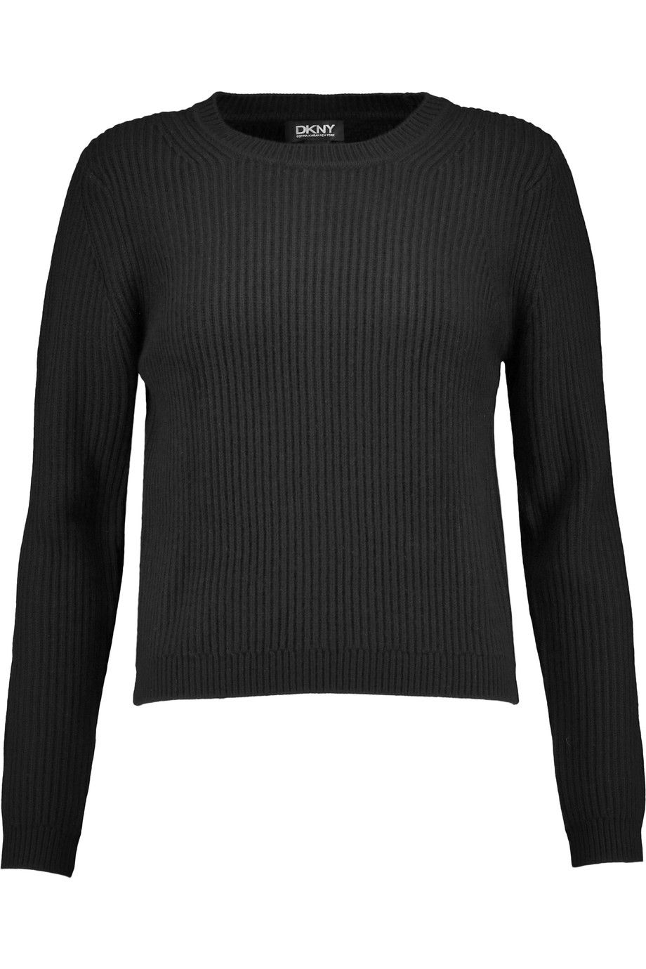 DKNY Cropped ribbed-knit sweater. #dkny #cloth #sweater