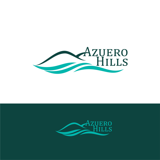 Create a memorable logo with text and symbol for Azuero Hills by Sikalive