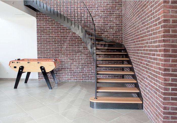 Photo DT106 - ESCA\u0027DROIT® 1/4 Tournant Intermédiaire Escalier