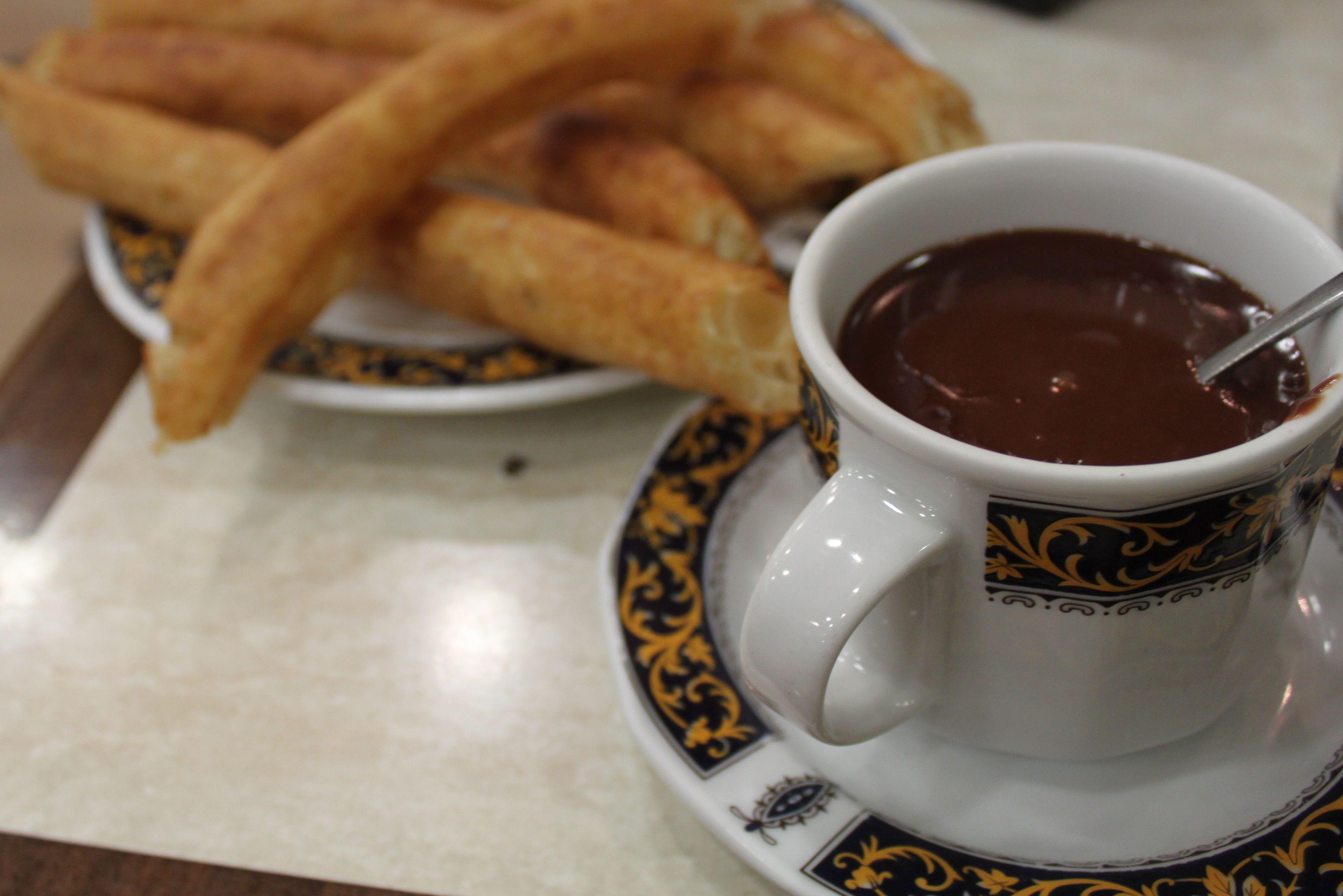 chocolate con churros, granada