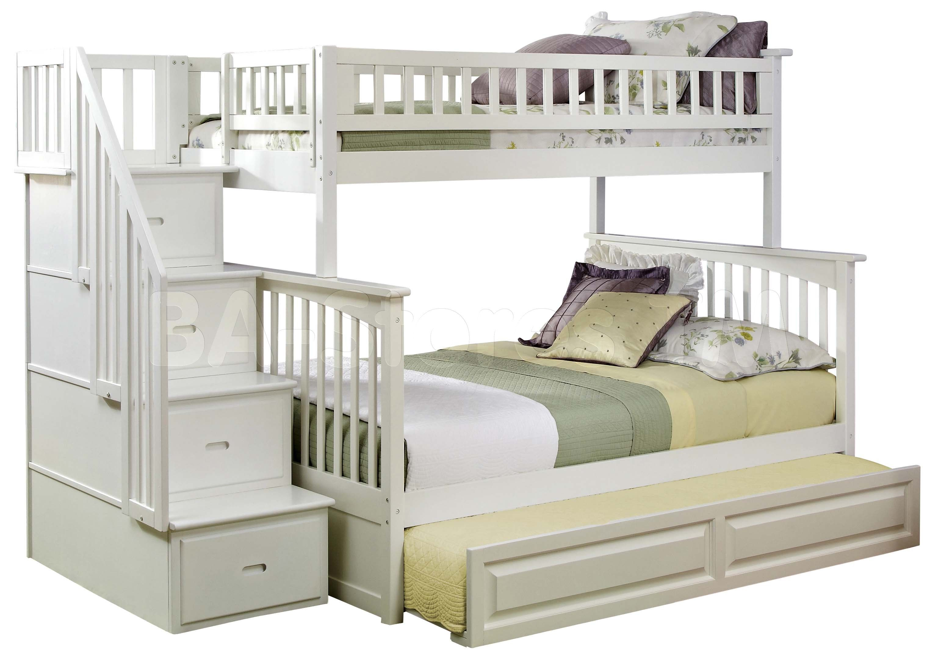 classic queen twin bunk beds | Click to enlarge ... I like the white ...