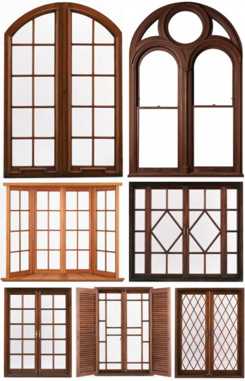 Wood windows download wood windows new photoshop for Window design clipart