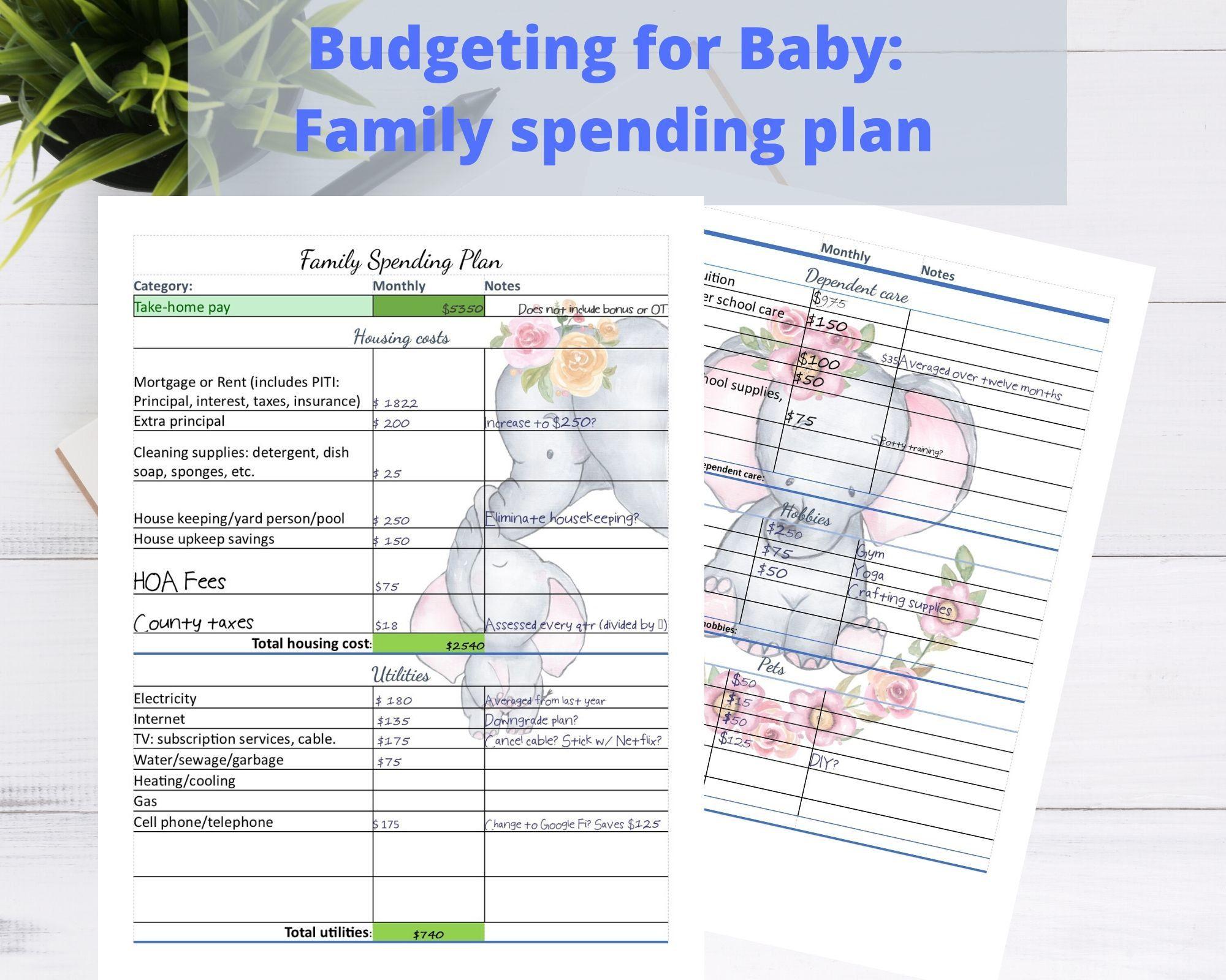 8 5 X11 Printable Family Budget Planner Loan Debt