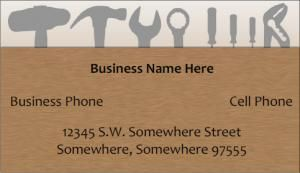 Handyman business card samples pinterest free business cards free business card templates for a handyman wajeb Gallery