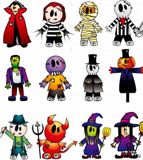 20 Sets of Free Halloween Clip Art and Vectors | Festive Holiday ...