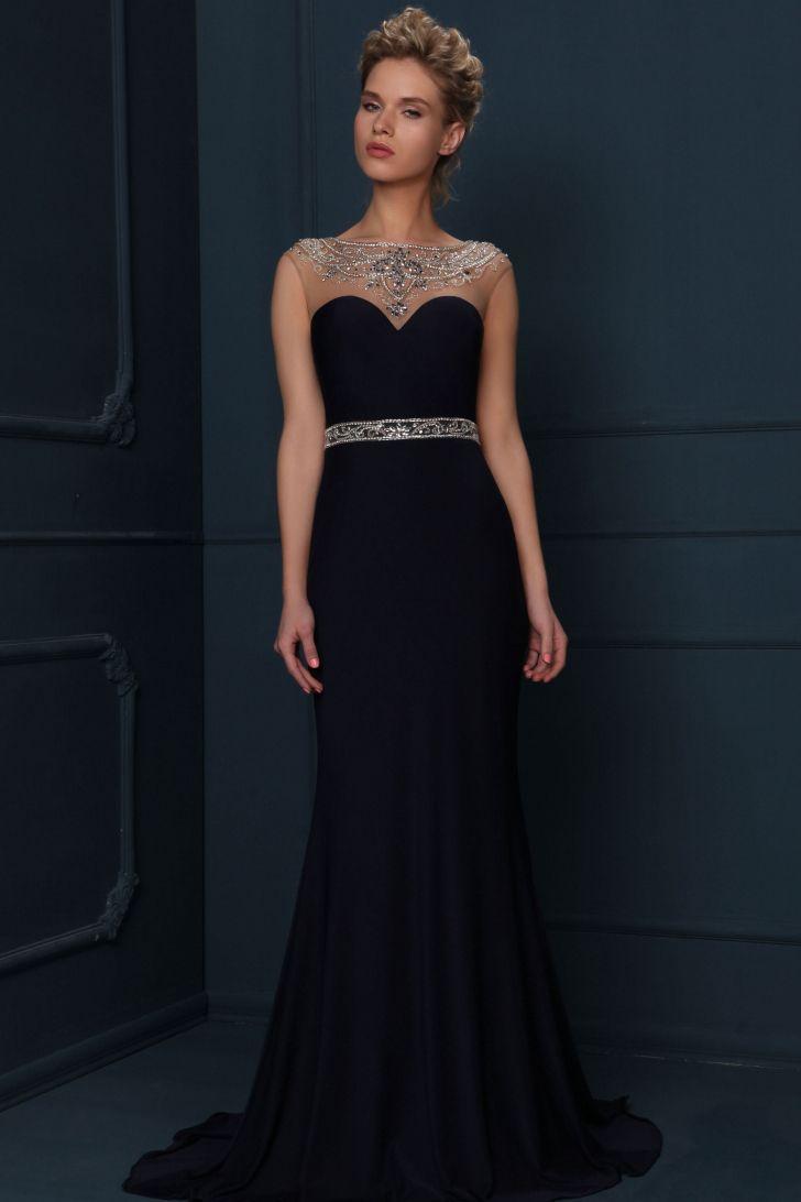 Cap sleeve jewel neck beaded chiffon evening dress beaded chiffon