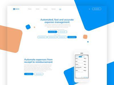 Redesign Concept for Concur Concur, Web design, Expense