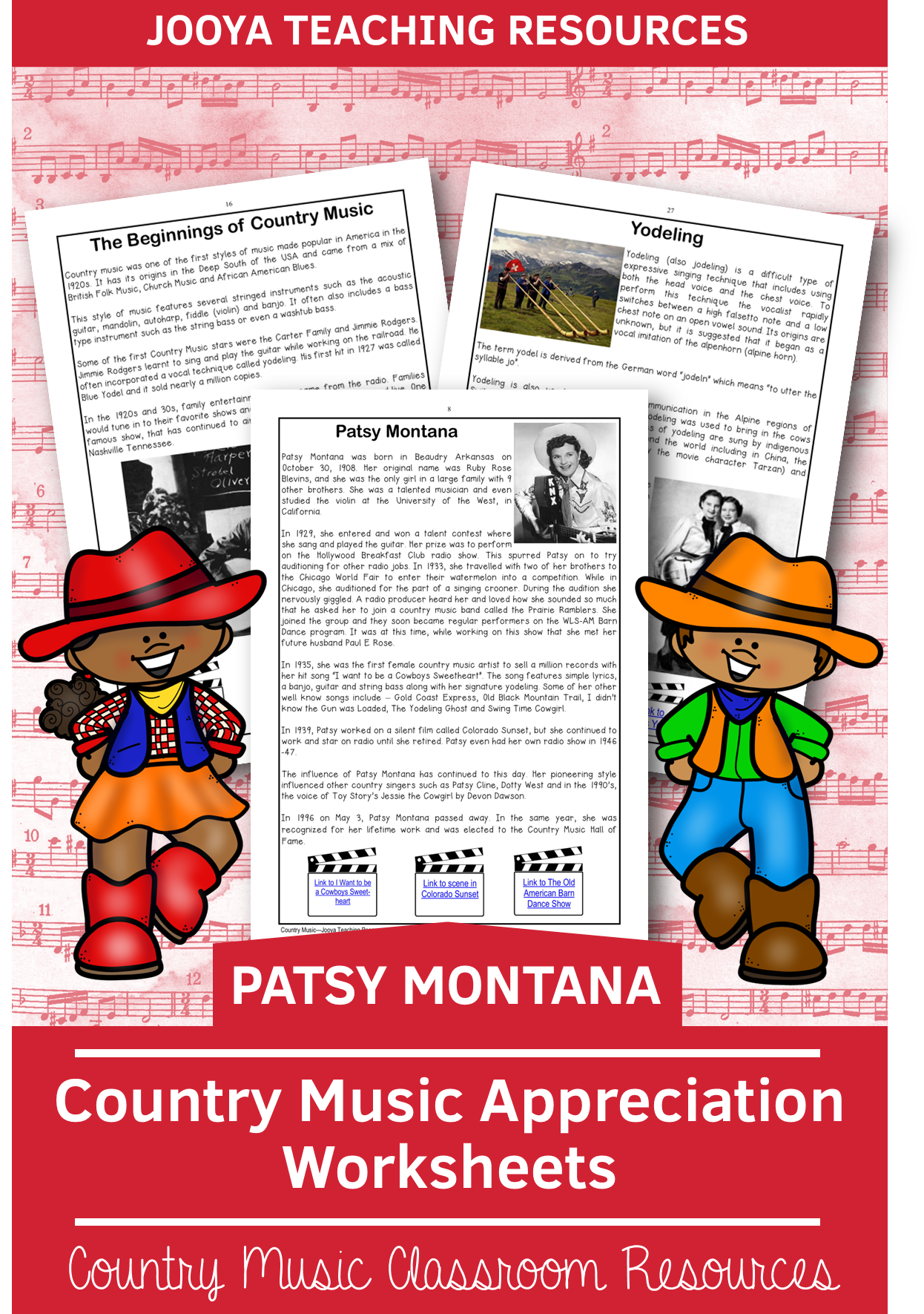 Country Music Appreciation Worksheets