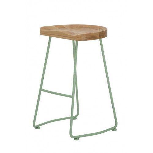 green farmhouse rustic stool  tractor counter stool  bar