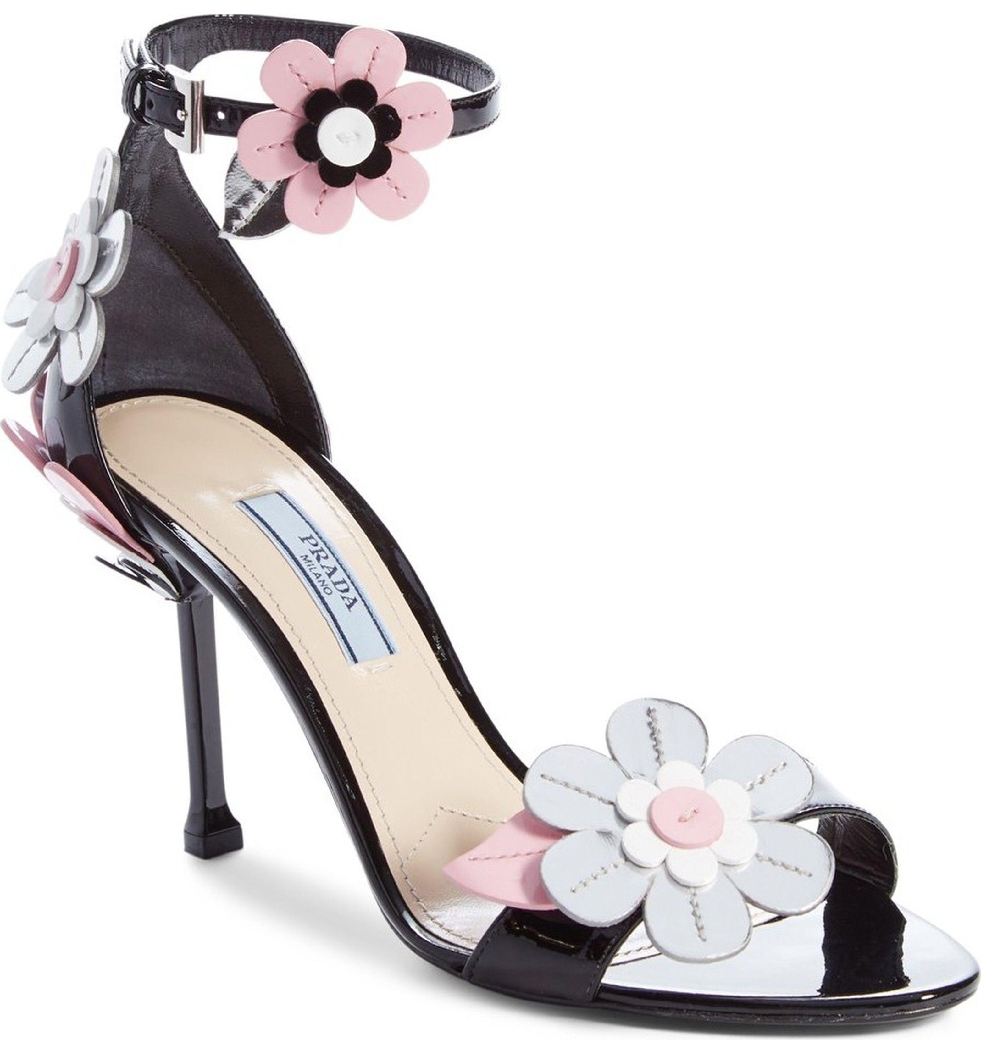 a7cb2888188f Prada Flower Ankle Strap Sandal