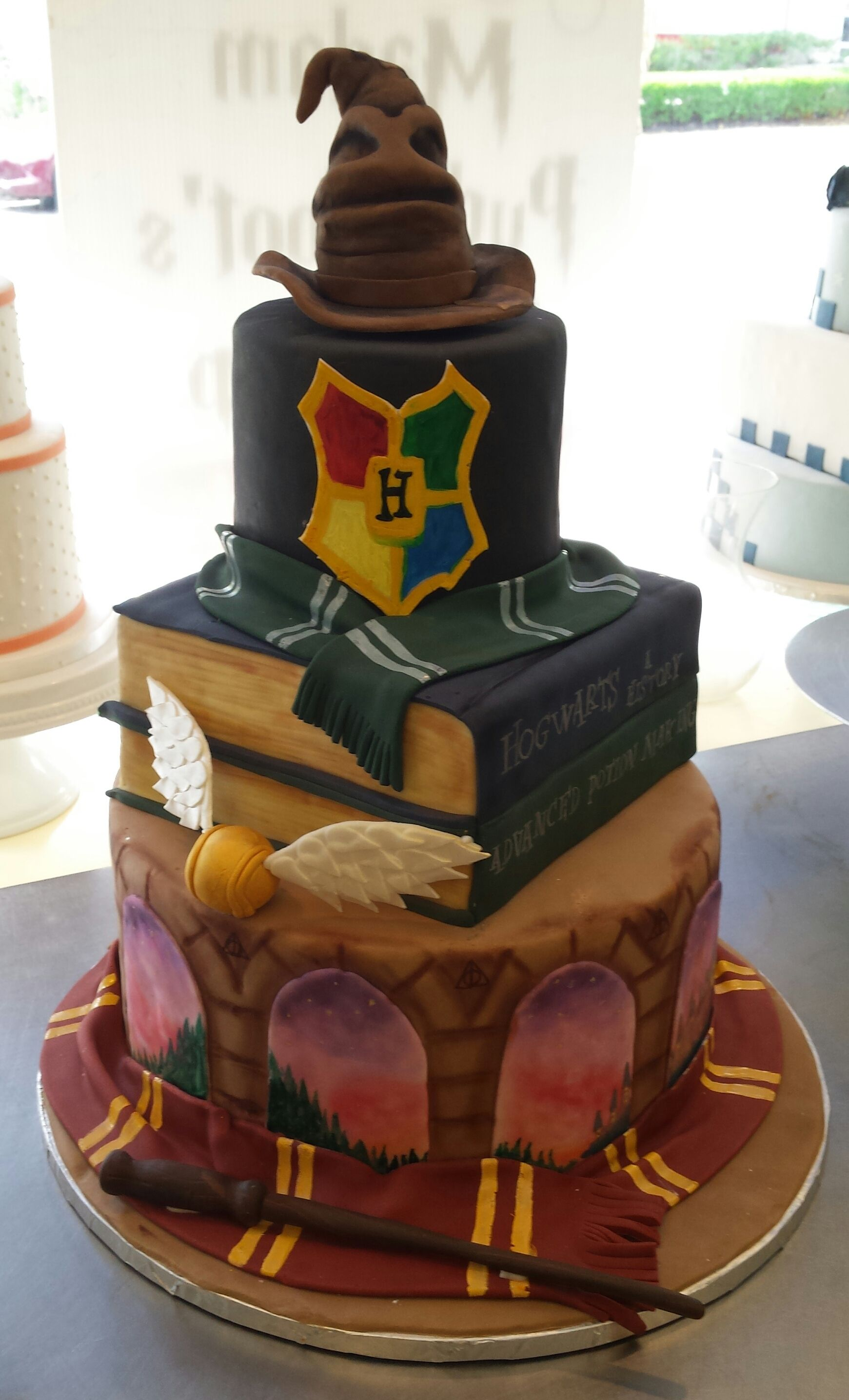 A Magical Harry Potter Themed Wedding Cake Artfully Created By