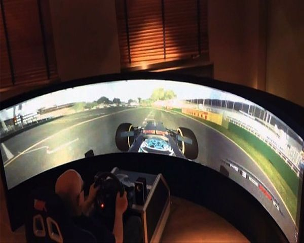 Curved Racing Simulator Be Fun Computers