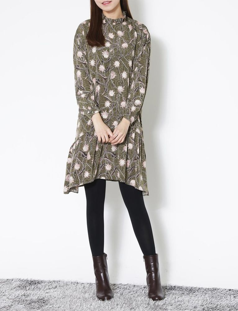 Women winter Casual Simple flower printed Dresses Japanese/Korean Fashion #Unbranded
